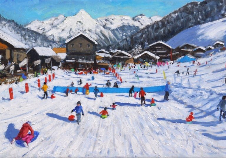 Andrew Macara - Sledging, Les Gets, France