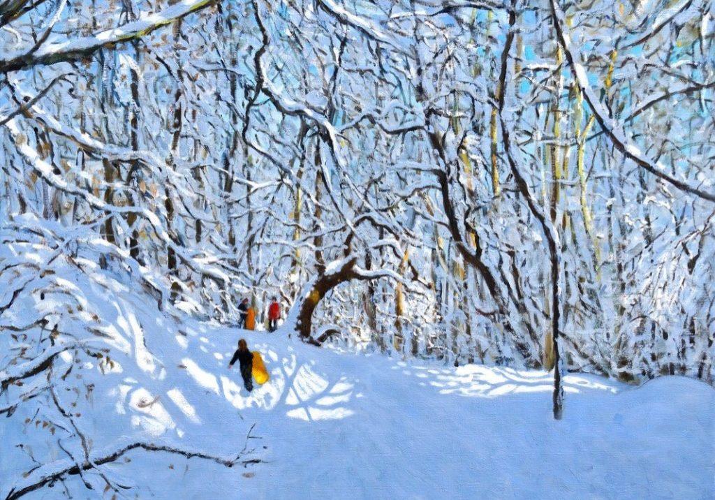 Andrew Macara - sledging Allestree Park