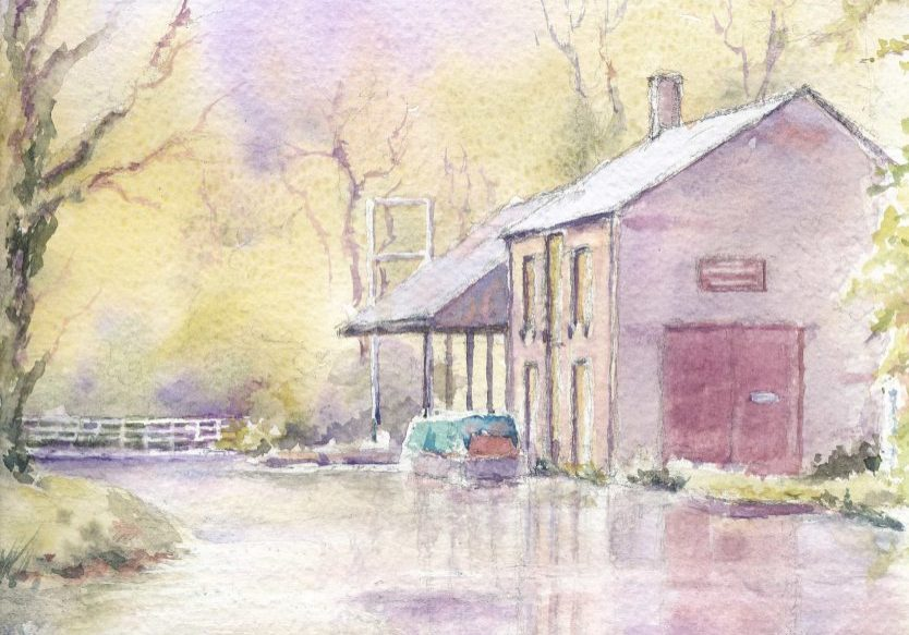Cromford-canal-the-wharf-shed-F-Jackson