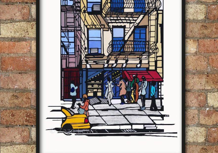 NYC_framed_brickwall