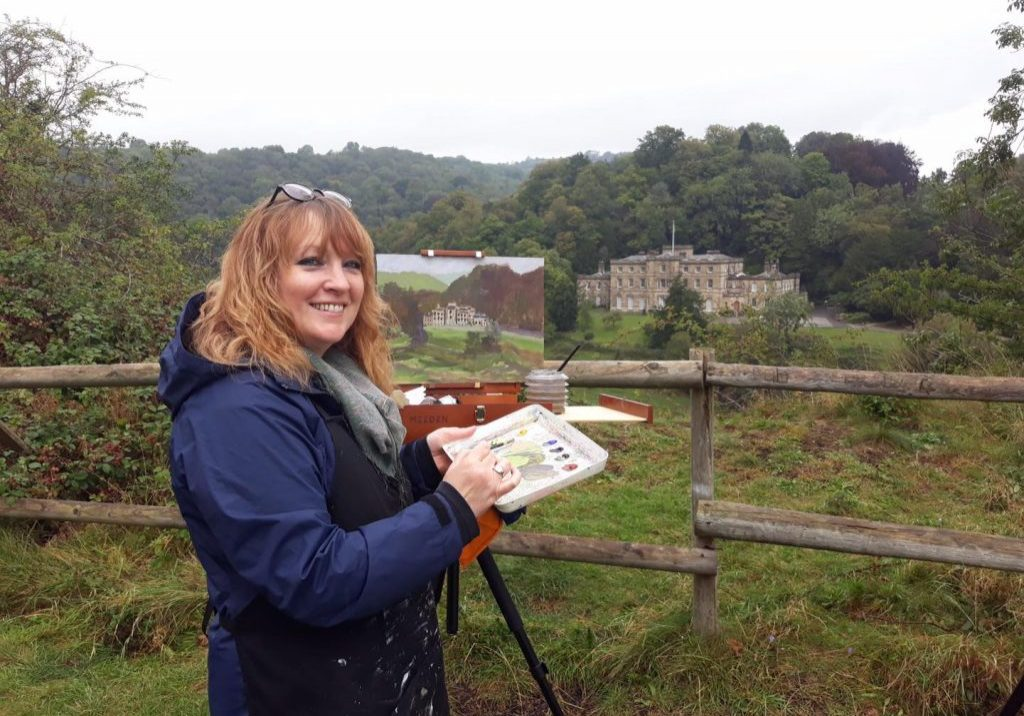 Ruth-Gray-painting-at-Willersley-Castle